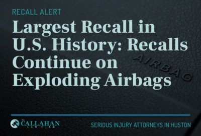 largest recall in US history: recalls continue on exploding airbags