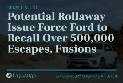 potential rollaway issue force fod to recall over 500,000 escapes, fusions