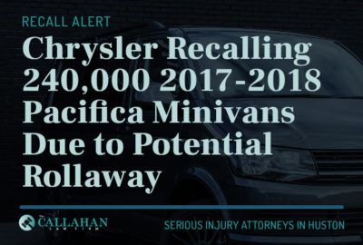 chrysler recalling 240,000 2017-2018 pacifica minivans due to potential rollaway