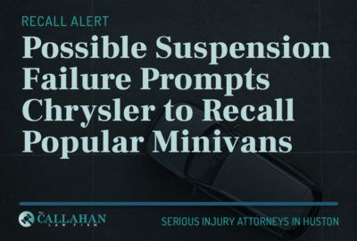 possible suspension failure prompts chrysler to recall popular minivans