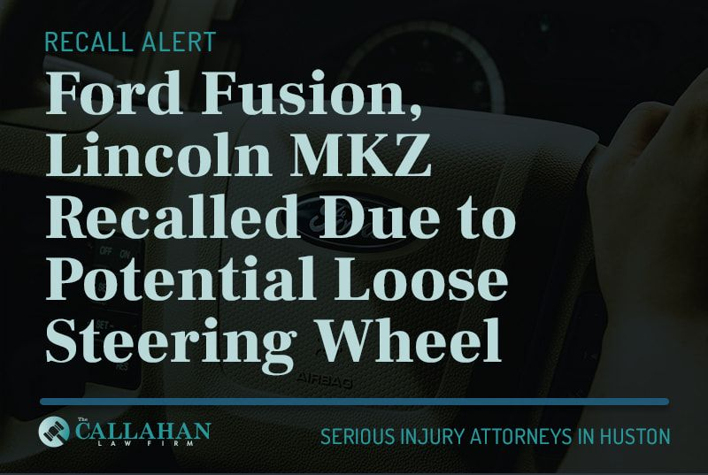 ford fusion, lincoln MKZ recalled due to potential loose steering wheel