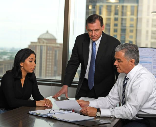 attorneys with client