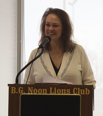Lawyer Flora Stuart at B.G. Noon Lions Club