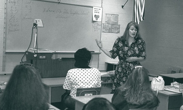 Flora Stuart teaching