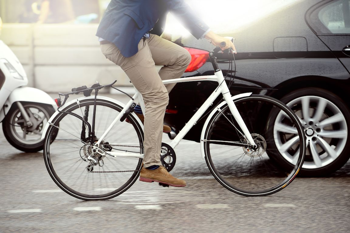 bicycle in traffic