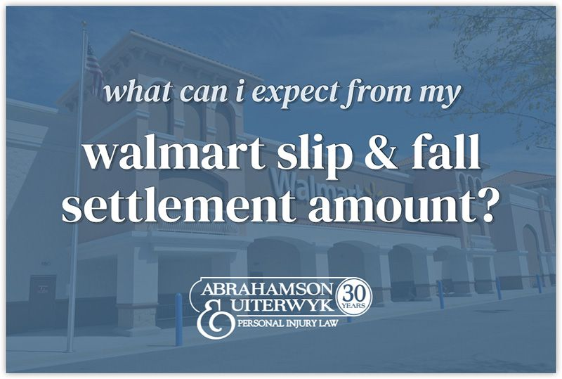 walmart slip and fall settlement offer amounts