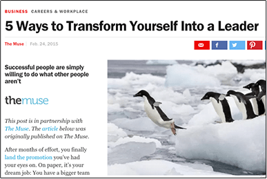 5 Ways to Transform Yourself Into a Leader time