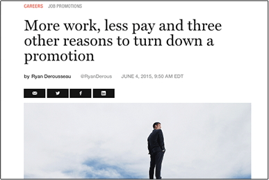 More work, less pay and three other reasons to turn down a promotion Fortune