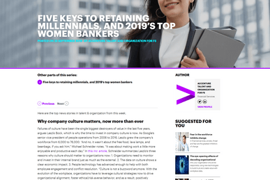 5 Keys to Retaining Millennials and 2019s Top Women Bankers