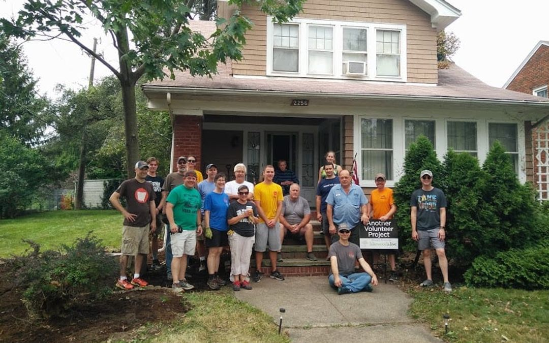 LakewoodAlive Board, Staff Complete Massive Yard Reclamation Project for Elderly Couple