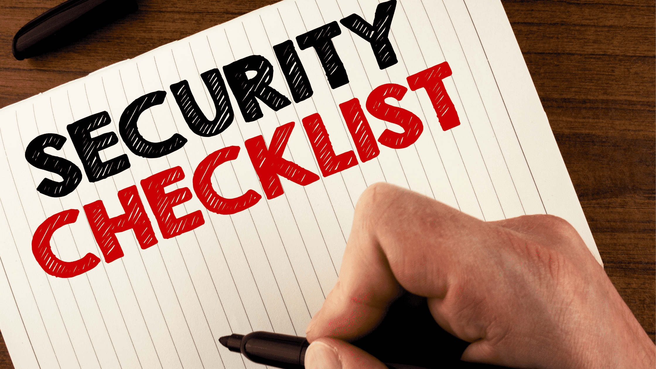 Notepad With Security Checklist Title