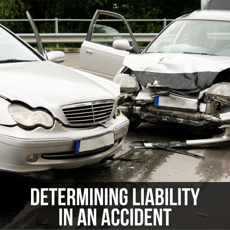 determining liability in an accident