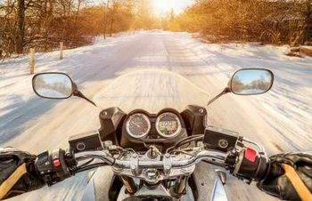 Motorcycle winter driving