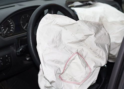 car accident deployed airbag