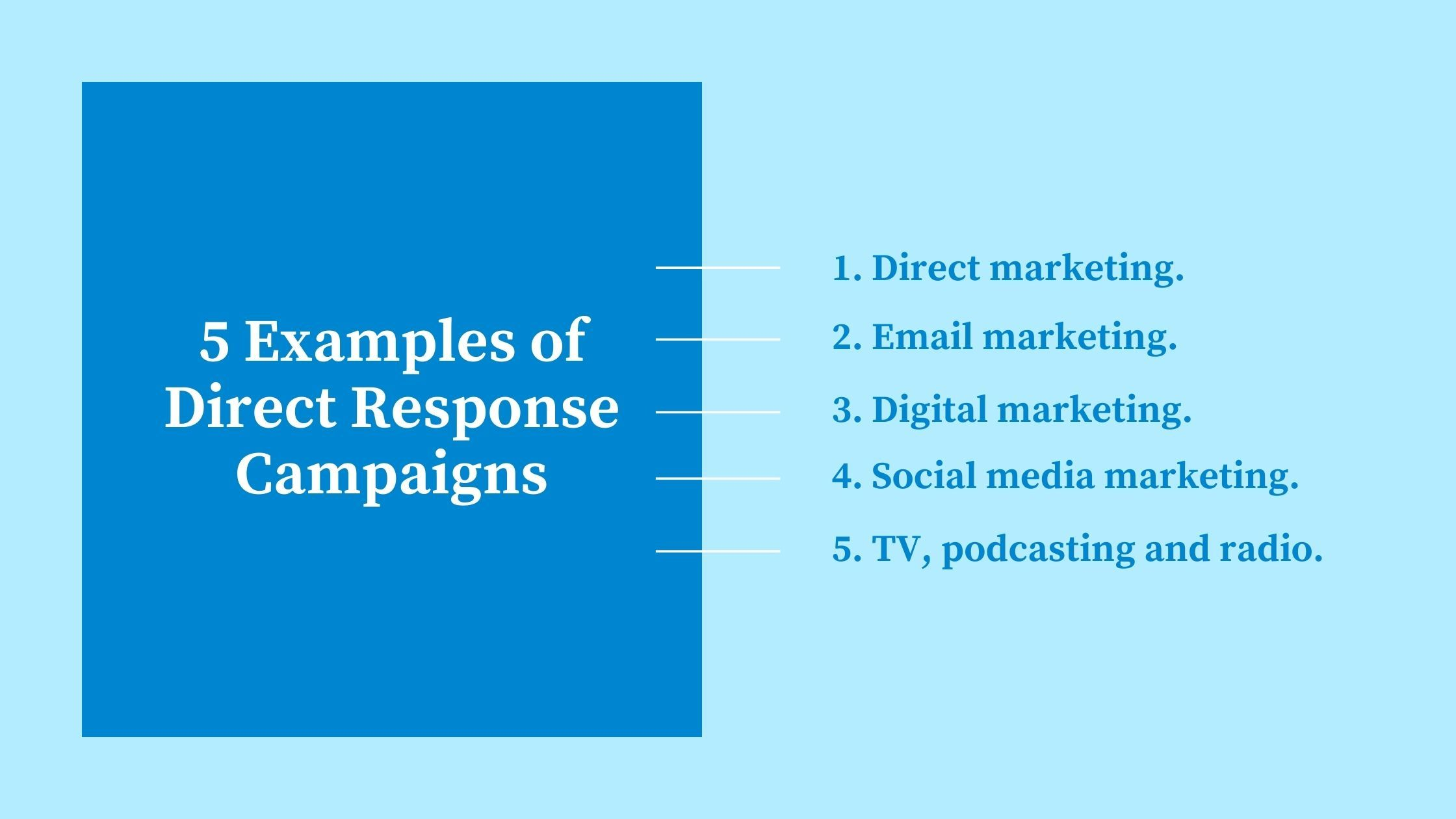 5 Effective Media Channels for Direct Response Campaigns