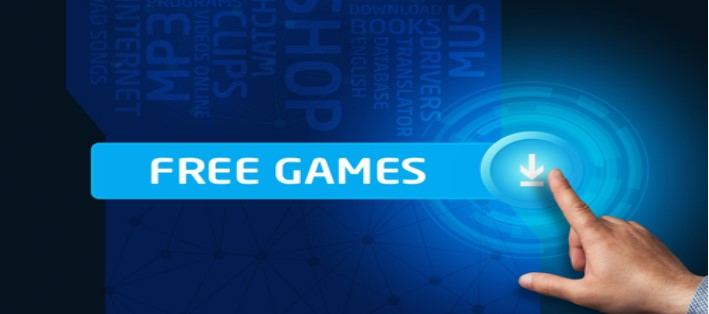 Player selecting free games download option