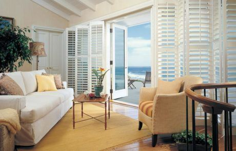 Plantation Shutters for patio doors by a shade above window fashions