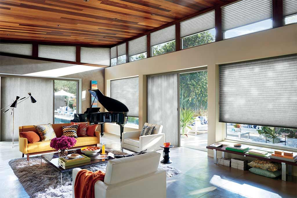 Cellular shades for sliding doors by a shade above window fashions