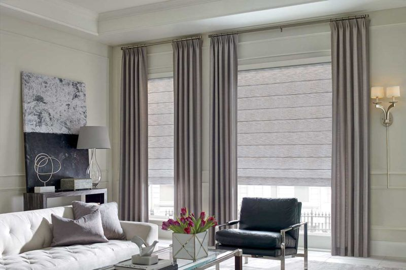 Draperies by Hunter Douglas curtain panels a shade above window fashions