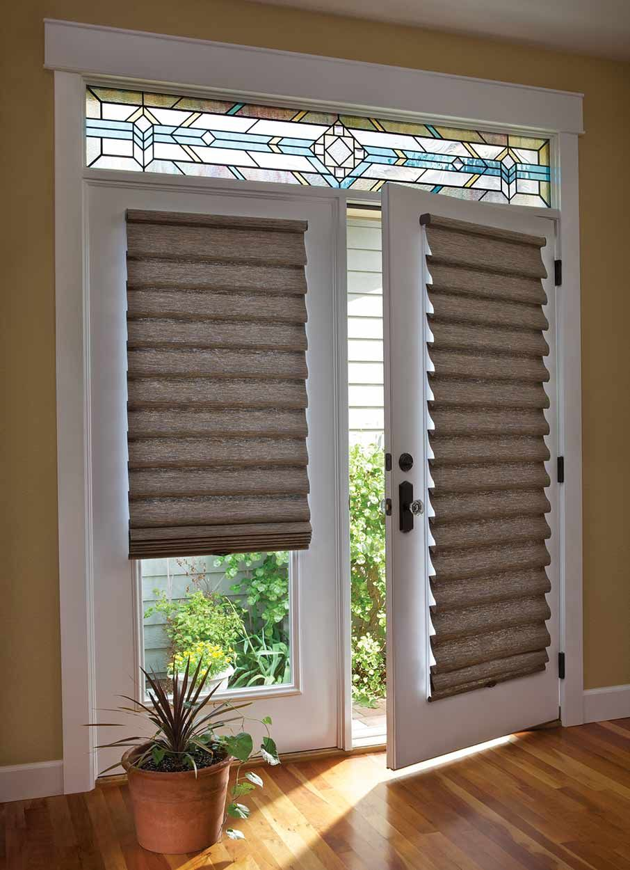 roman shades for doors by ashade above window fashions, blinds showroom in davie florida