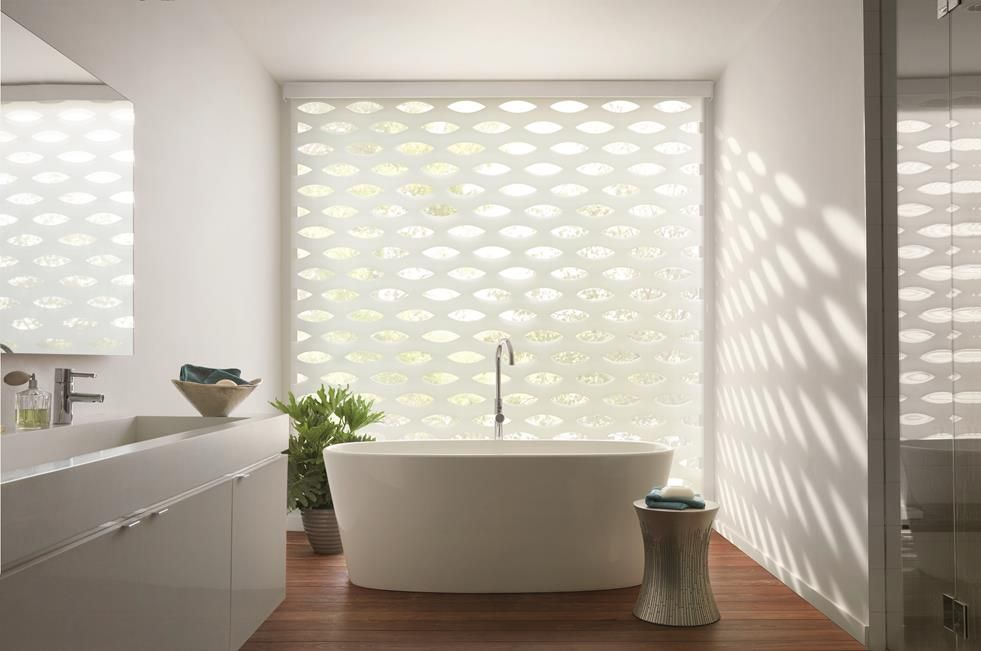 transitional shades in bathroom by a shade above window fashions
