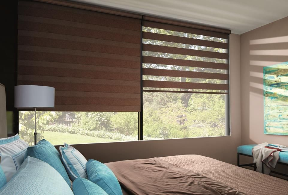 transition roller shades in bedroom by a shade above window fashions