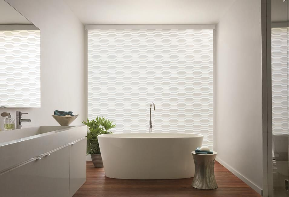 zebra shades partially closed in bathroom a shade above window fashions