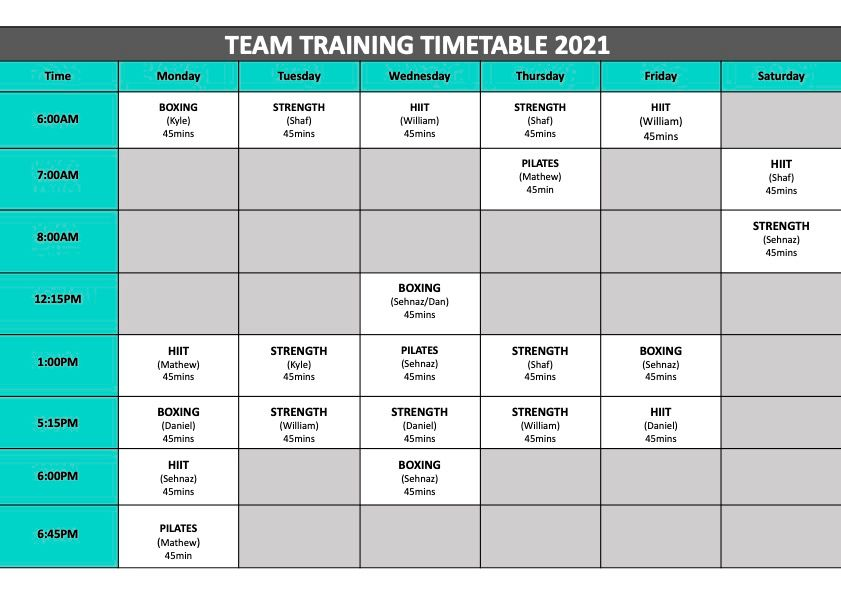 Updated June Team Training Timetable 2021 cropped