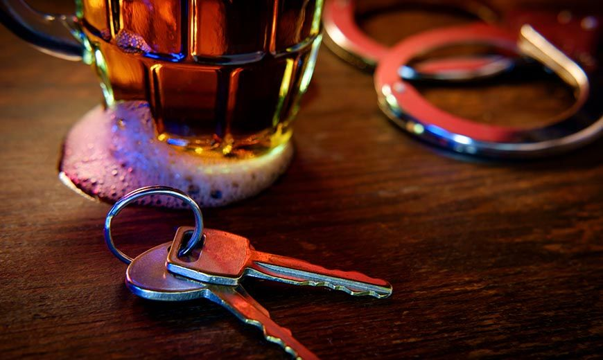 drunk driving alcohol and keys