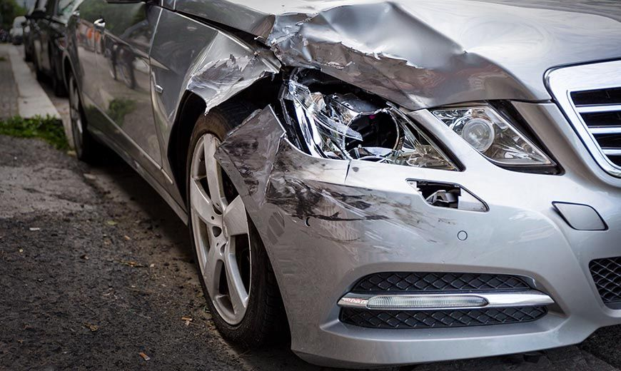 hit and run accident damage