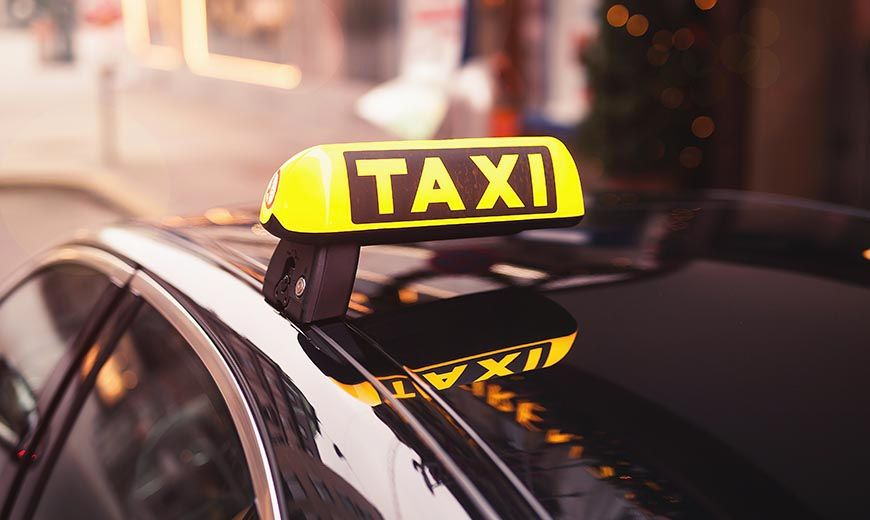 taxi cab in city