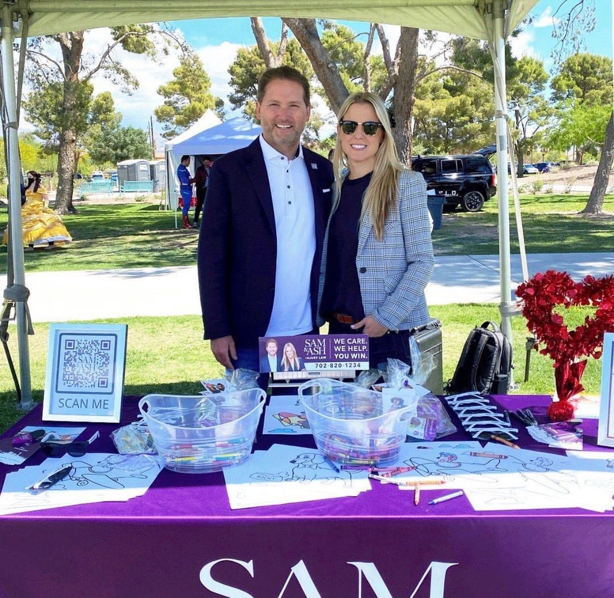 Sam & Ash at the Heart for Walk Event