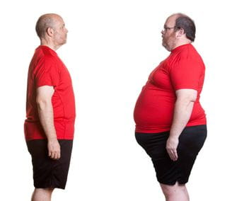 Male Weight Loss after and before