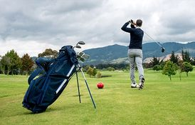 Man Golf swing from Hypnosis