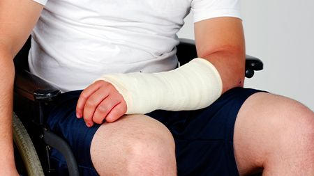 personal injury arm injury in wheelchair