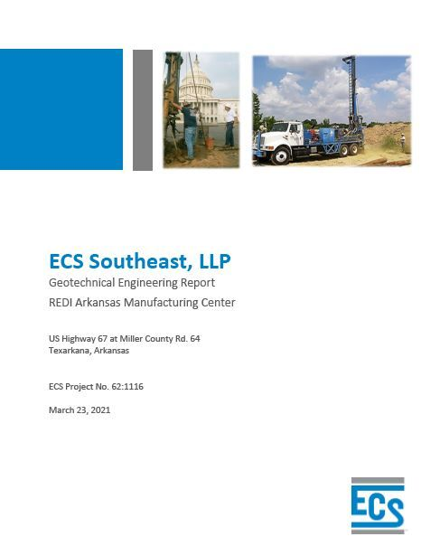arkansas manufacturing center geotechnical report